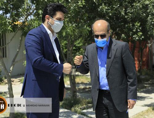 گزارش تصویری بازدید مهندس مجید احمری و محمد علی صحرایی از بیمارستان ۱۶۰ تختخوابی شهرستان ملارد