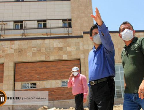 گزارش تصویری از بازدید پروژه بیمارستانی ۱۶۰ تختخوابی ملارد