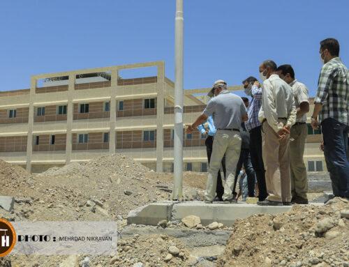 گزارش تصویری از بازدید پروژه بیمارستانی ۱۶۰ تختخوابی شهرستان فسا