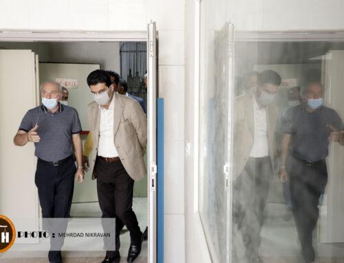 بازدید مدیر عامل و هیات همراه از پروژه بیمارستانی۱۶۰ تختخوابی شهرستان فسا